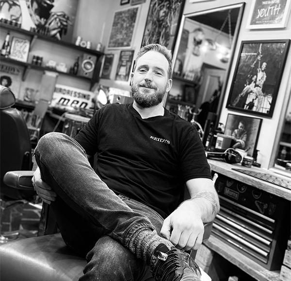 Toby Head Barber at Reidys Barber Shop